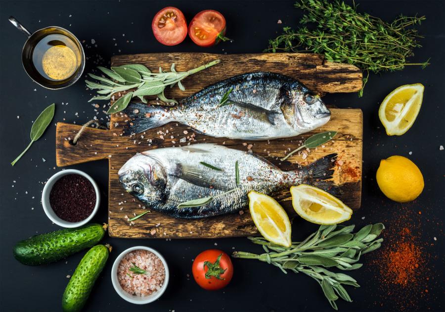 膠原蛋白食物 - 魚和貝類