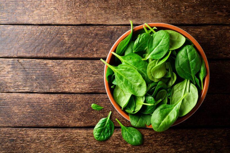 助頭髮增長的食物-維他命E-菠菜