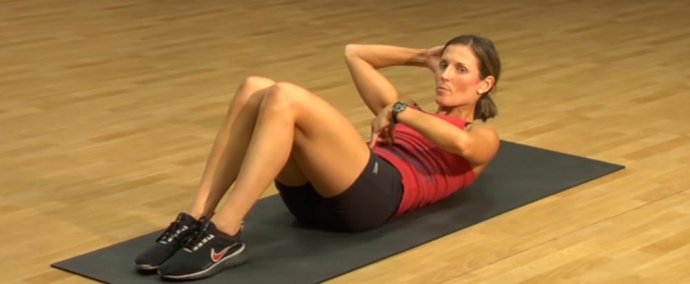 簡單瘦腰運動-Ab Workout-簡易版捲腹-Crunches