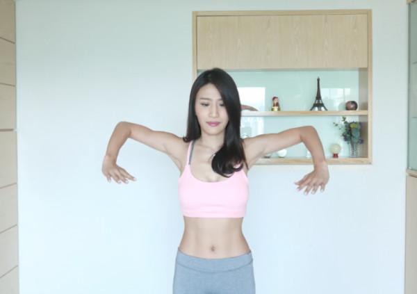 Coffee林芊妤教你瘦手臂運動-雙手打開上升