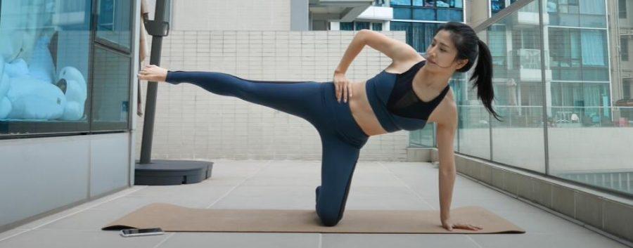 瘦腿運動-側身抬腿